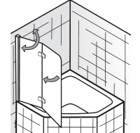 HSK Premium Softcube Badewannenaufsatz 2-teilig, für 5-/ 6-Eck Badewanne