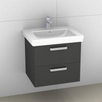 Artiqua 414 Waschtischunterschrank mit 2 Auszügen, Raumsparsiphon im Lieferumfang enthalten, passend