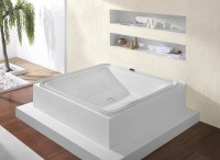Hoesch Badewanne Ergo+ Quadrat 2075x1950 freist.,
