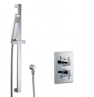 HSK Shower Set 1.02 Eckig, chrom