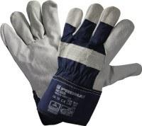 NORDWEST Handel AG Handschuhe Weser Gr.10 Rindspaltleder Stulpe gummiert,