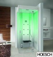 Hoesch Dampfbad SenseEase Quadrat 1000x1000 re.,