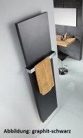 HSK Design-Heizkörper Atelier Line 608 x 1806 mm, Farbe: ebony (schwarz matt)