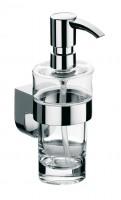 Emco mundo Flüssigseifenspender, Kristallglas klar, Kunststoffpumpe,130ml,chrom, 332100101