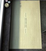 Fiora Silex Privilege Duschwanne, Breite 90 cm, Länge 100 cm, Farbe: creme