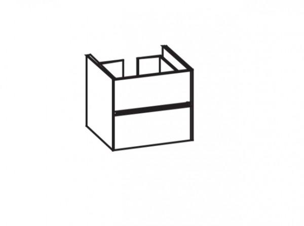 Artiqua 116 LED-Waschtischunterschrank, Weiß Glanz, 116-WU2LB-AC05-7065-51