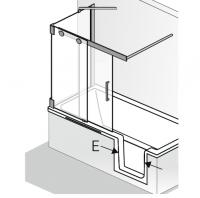 HSK K2.P Badewannenaufsatz Gleittür 2-teilig mit Seitenwand