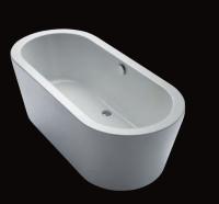 Repabad Livorno 190/90 oval F freistehende Badewanne, L: 1900, B: 890, H: 600 mm, weiss