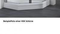 HSK Acryl Schürze 11 cm hoch, für HSK Viertelkreis Duschwanne 90 x 100 cm