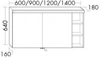 Burgbad Spiegelschrank Orell 640x1200x180 Weiß Hochglanz, SPGI121F1690
