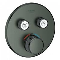 Grohe Thermostat GRT SmartControl 29119 FMS rund 2 Absperrv. hard graphite geb., 29119AL0