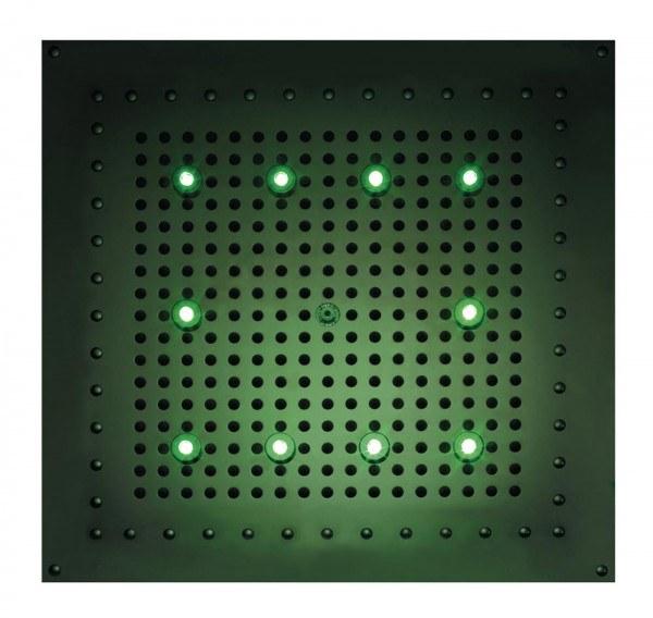 Bossini Kopfbrause Dream Cube Flat RGB Cromotherapie L: 47 B: 47 cm