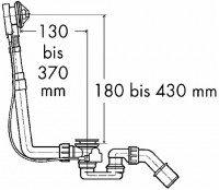 Keramag Ab- und Überlaufgarnitur 590600, mit Drehrosette, verchromt, 590600000