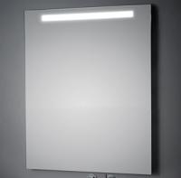 KOH-I-NOOR LED Wandspiegel mit Oberbeleuchtung, B: 800, H: 600, T: 33 mm