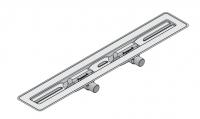 I-DRAIN Korpus Basic 57 mm Tür, 120cm,2Siphon waagr.DN40,Butylklebeband