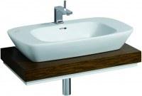 Keramag Waschtisch-Platte Silk 816380 Ausschnitt mittig, B: 800, H: 100, T: 470 mm, 816380000