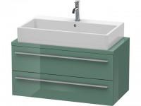 Duravit Waschtischunterschrank f.Konsole X-Large 440x900x478 2 Schubkästen, Jade Hochglanz, XL540800