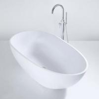 Königsburg Premium 3 freistehende Mineralguss-Badewanne, L:1700, B:850, H:540 mm, weiss