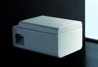 Neuesbad 3000 Wand-Tiefspül-WC, weiss, Nanobeschichtung, mit WC-Sitz mit Softclose