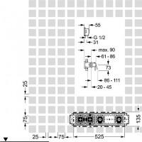 Hansa Unterputz-Installationspaket 2.0 Einhand-Batterie, Hansamatrix 4486 0021, 44860021