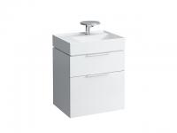Laufen Waschtischunterschrank Kartel l für 81033.5 2 Laden 595x455x615 mm weiss glänzend