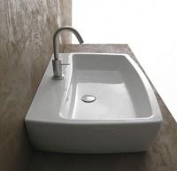 Axa one X-Tre Waschtich/Aufsatzwaschtisch B: 700, T: 480, H: 160 mm, weiss, mit 1 Hahnloch