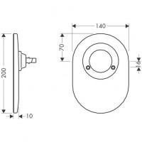 Hansgrohe Umrüstset Kugel auf M3 Brausenmischer Unterputz steel, 96384800