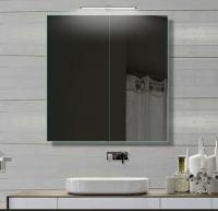 Neuesbad Alu LED Badezimmerspiegelschrank, B:610, H:700 mm