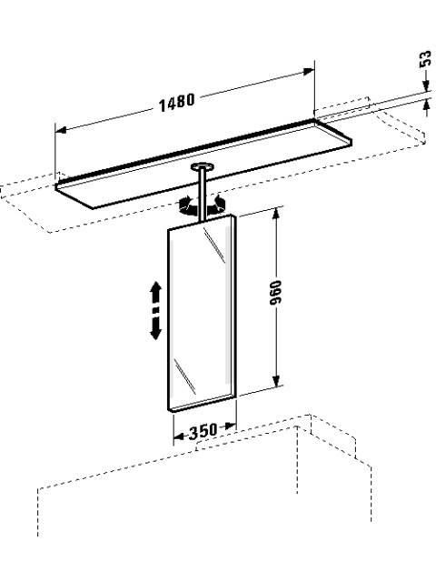 Spiegelelement 2nd floor 300x1480mm 2F963808585