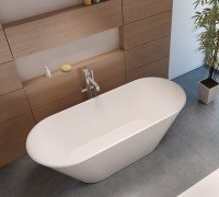 Riho Barcelona Solid Surface 170x70x58 weiss, freistehende Wanne