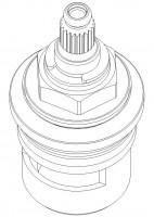 """Damixa Keramik-Modul 3/4"""", Kalt  , 2320300"""