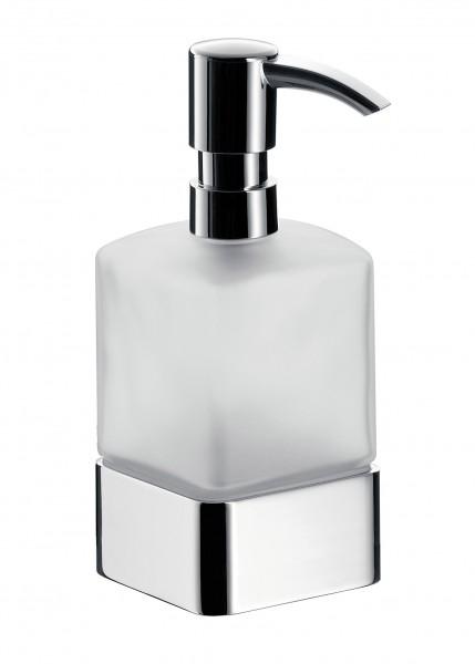 Emco loft Seifenspender, Standmodell, Glas satiniert, Kunststoffpumpe, chrom, 052100102