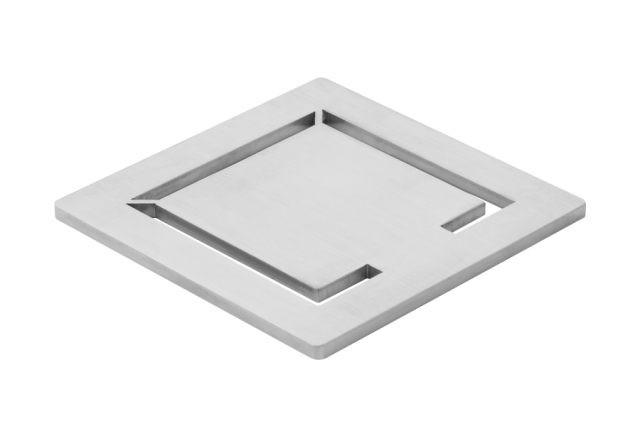Uniflex Designrost puristisch Quadrat Edelstahl gebürstet 154305001