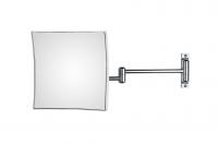 KOH-I-NOOR Quadrolo 63/2 Vergrößerungsspiegel 3-fach 20x20 cm rechtekige Platte, Doppelarm