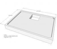 Neuesbad Wannenträger für Bette Floor Side 1200x900