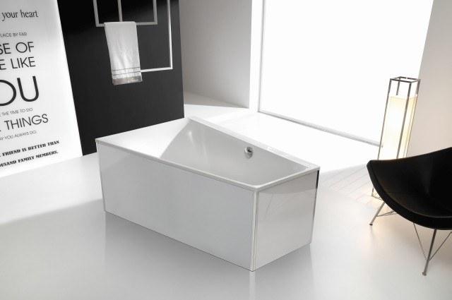 Image of Hoesch Glasverkleidung weiß f. freistehende Badewannen 47174.550