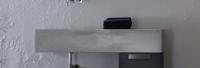 Artiqua Dimension 111 Betonwaschtisch, Breite: 1200 mm, ohne Hahnloch, grau versiegelt