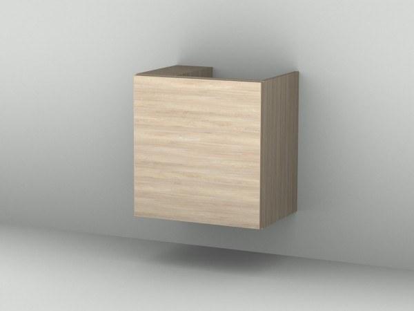 Sanipa Waschtischunterschrank mit Tür (2morrow) MM38015L, Ulme Natural-Touch 510,0x490,0x350,0