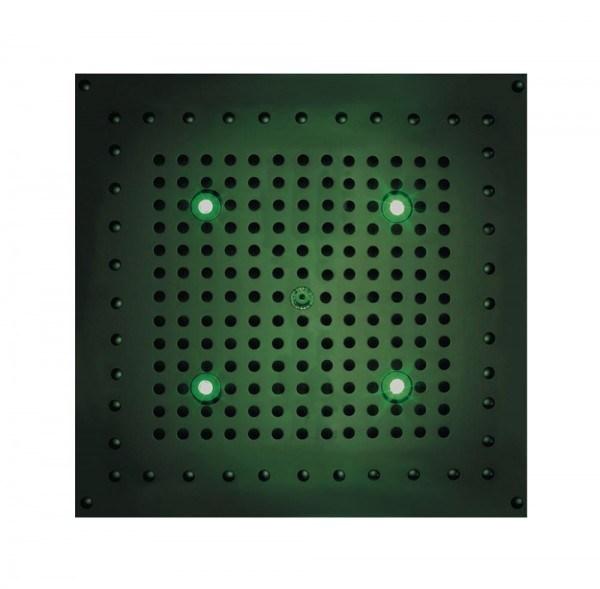 Bossini DREAM Cube Flat light RGB Cromotherapy 370 x 370 mm, mit 4 LED`s