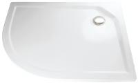 HSK Acryl Viertelkreis-Duschwanne super-flach 90 x 120 x 3,5 cm, ohne Schürze