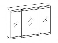 Artiqua SELECTION 312 LED Spiegelschrank B:1000mm 3 Türen