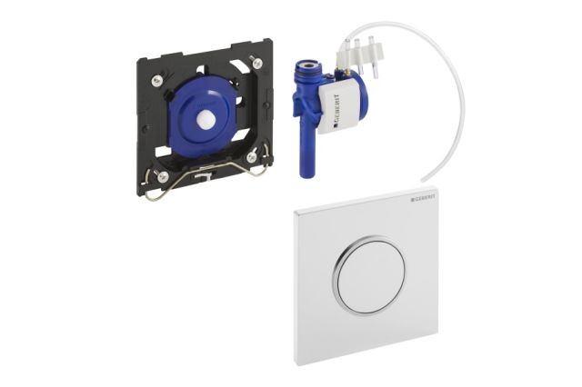 HyTouch Urinal-Handauslöung weiß Kunststoff Sigma10 pneumatisch 116015KL1