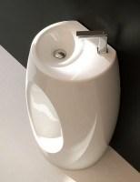 ArtCeram One Shot Hall Stand-Waschtisch, B: 600, T: 400, H: 850 mm, weiss glänzend