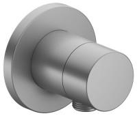 Keuco 2-Wege Umstellventil IXMO Pure 59556, Schlauchanschluss, rund,Aluminium-finish, 59556170101