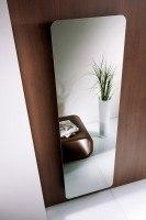 HSK Design-Heizkörper Softcube mit klarer Spiegelfront, 570 x 1800 mm, Korpus: ebony (schwarz matt)