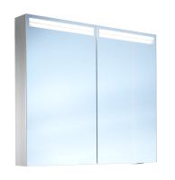 Schneider Spiegelschr. Arangaline/70/2/LED, 1x15W+1x9W LED 700x700x120 alueloxiert, 160.070.02.50