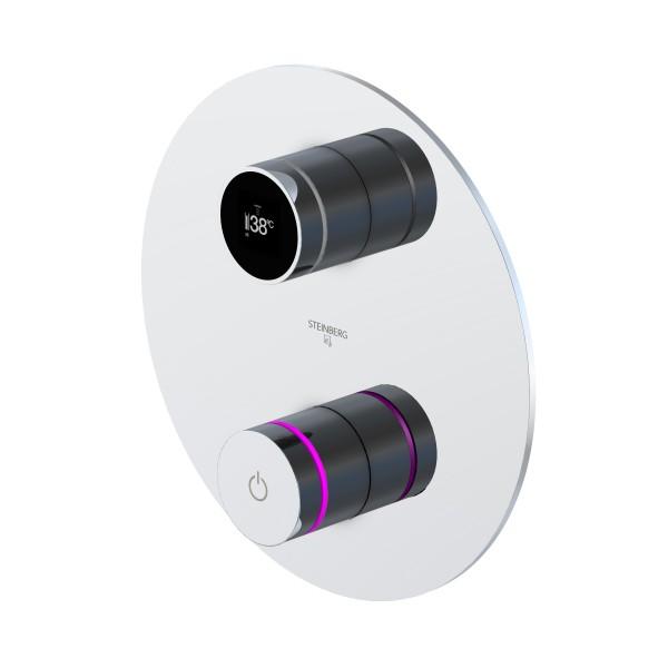 Steinberg iFlow vollelektronische Armatur mit Digitalanzeige, chrom, 3904110, 390.4110