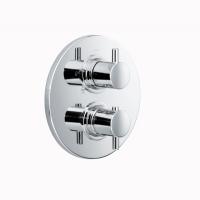 HSK Unterputz-Thermostat Rund, chrom, mit Absperrventil