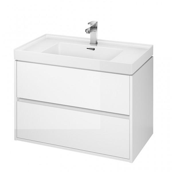 Neuesbad Serie 300 Waschtischunterschrank, B:794, T:447, H:533mm, weiss glänzend Lack