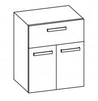 Artiqua COLLECTION 415 Midischrank B:600mm 2 Türen 1 Auszug